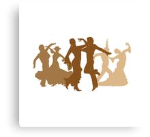 Flamenco Dancers Illustration  Canvas Print
