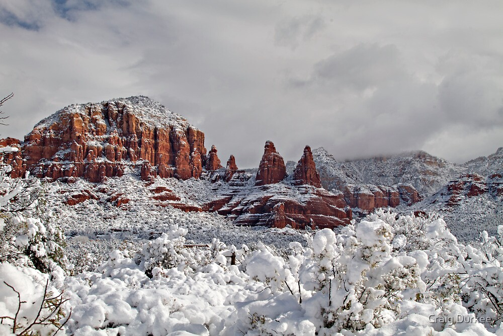 Sisters In Snow by Craig Durkee