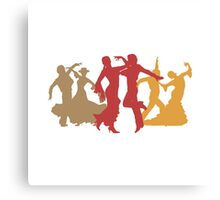 Colorful Flamenco Dancers Canvas Print