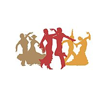 Colorful Flamenco Dancers Photographic Print
