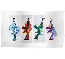 CS colorful weapons HQ Poster