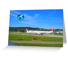 Travel around the world ! Greeting Card