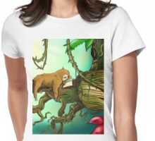 reading sloth Womens Fitted T-Shirt
