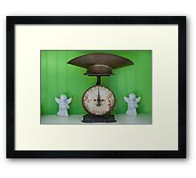 Scales with Angels Framed Print