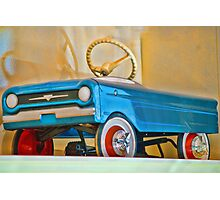 Child's Toy Blue Car Photographic Print
