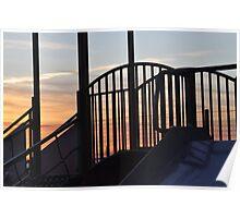 abstract play park at dusk Poster