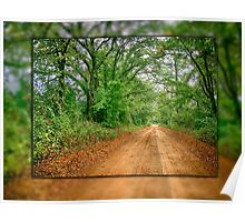 East Texas Back Road Poster