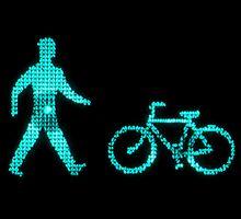 green bike and man by bicyclegood