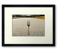 THE FORK IN THE ROAD Framed Print