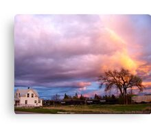 Kalispell Sunset - South Canvas Print