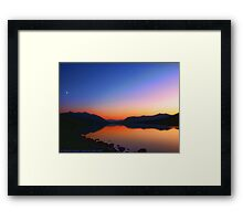Lake MacDonald Sunset Framed Print