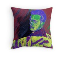 Young Dali contemplating, Fu Manchu or Handlebar Throw Pillow