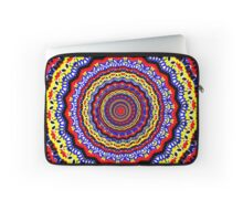 Colorful Bright Bohemian Circle Pattern Laptop Sleeve