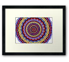 Colorful Bright Bohemian Circle Pattern Framed Print