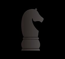 Black knight chess piece by peculiardesign