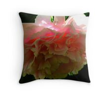 Plugged-in Peony Throw Pillow