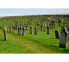 Whitby Abbey Graveyard Photographic Print
