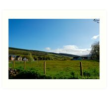 The Hills of Drumnadrochit Art Print