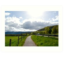Pathway to Urquhart Castle Art Print