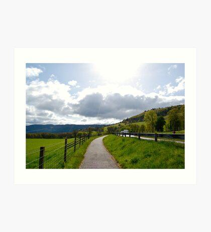 Pathway to Urquhart Castle Art Print