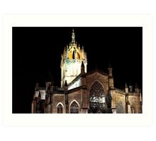 Spire of St Giles Cathedral Art Print