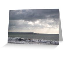Storm brewing over the I O W Greeting Card
