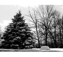 BW Winter Landscape Photographic Print