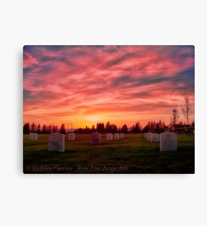 Solemn Sundown Canvas Print