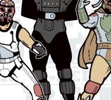 ¡Los Empiradores! - Vader Muerto, EstormoFederalé y El Boba Sticker