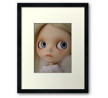 Mae - Blue Framed Print