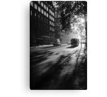 199711220002 Early Morning Bus PS5 BW Canvas Print