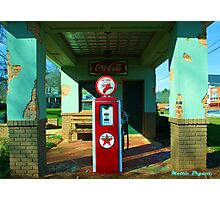 Old Gas Station Photographic Print