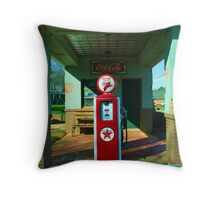 Old Gas Station Throw Pillow