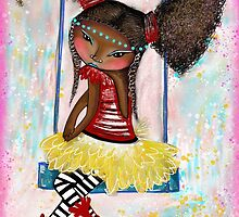 Blue Swing Ballerina - Beatrice Ajayi by Beatrice  Ajayi