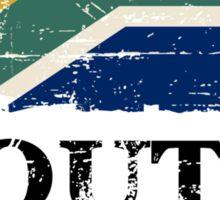 South Africa Flag - Vintage Look Sticker