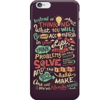 Solving Problems, Making Things iPhone Case/Skin