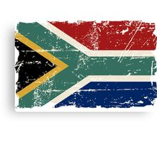 South Africa Flag - Vintage Look Canvas Print