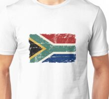 South Africa Flag - Vintage Look Unisex T-Shirt