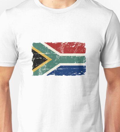 South Africa Flag - Vintage Look Unisex T-Shirt