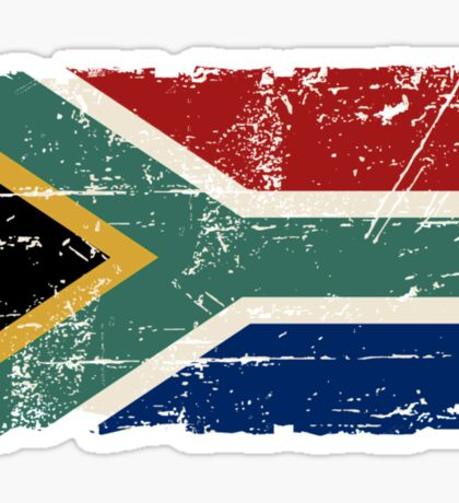 South Africa Flag - Vintage Look Sticker
