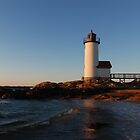 Annisquam Light at Sunset - Gloucester, Massachusetts by Steve Borichevsky