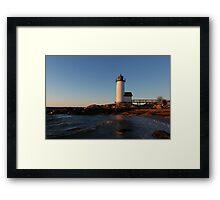 Annisquam Light at Sunset - Gloucester, Massachusetts Framed Print
