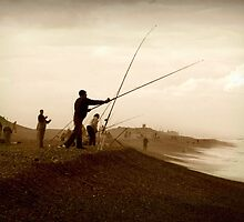 Fishermen on the Shore by Catherine Chapman