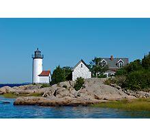Annisquam Light Trio - Gloucester, Massachusetts Photographic Print