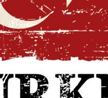 Turkey Flag - Vintage Look Sticker