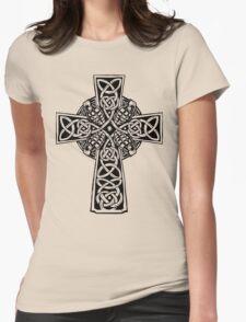 Irish Cross Womens Fitted T-Shirt