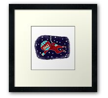 Red Suit Spacer - Beatrice Ajayi Framed Print