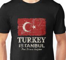 Turkey Flag - Vintage Look Unisex T-Shirt