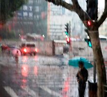 Rainy Day in Shanghai by Glennis  Siverson