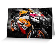 Honda Motorcycle Colorsplash Greeting Card